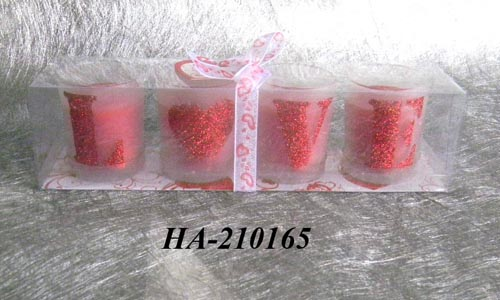 Scented candle filled in glass holder set